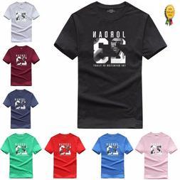 100% Cotton Men Jordan 23 Print tshirt Brand Clothing Men Sp