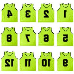 12x lot adult numbered mesh scrimmage vest