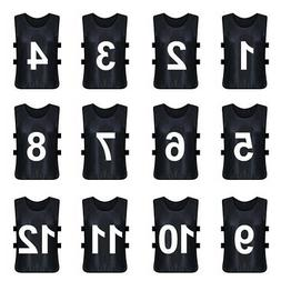 12x Lot Adult TopTie Numbered Training Vest #1-12 Soccer Pin
