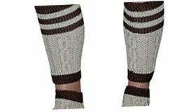 2 Piece Long Embroidered German Lederhosen Wool Socks Cream/