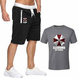 2019 cotton T Shirts+Shorts <font><b>men</b></font> sets Bra