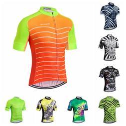 2019 Green Men Cycling Jersey Bike Clothing Short Sleeve MTB