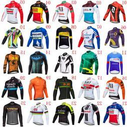 2019 Men Team Cycling Long Sleeve Jersey Bike shirt Bicycle