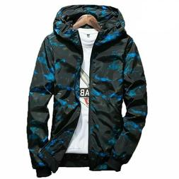 2019 Spring Autumn Mens Casual Camouflage Hoodie Jacket Men