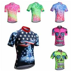 2020 New Cycling Jersey Men Fluorescent Bicycle Skull Clothi