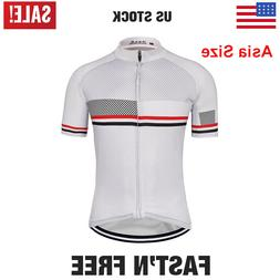 2020 White Men's Cycling Jersey Summer Short Sleeve Shirt To