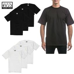 3 pc Pro Club Men Heavyweight Cotton Short Sleeve Crew Neck