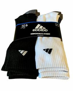 6 Pairs Adidas MEN Moisture Trefoil Cushioned QUARTER DRY So