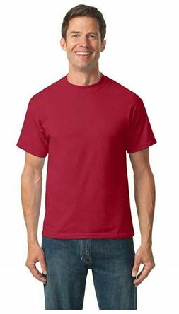 6 pack! Port & Company PC55T Tall Tshirt Men's 50/50 Cotton/
