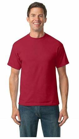 6 pack! Port & Company PC55T Tall Tshirt Men's 50/50 Cotton/