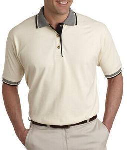 UltraClub 8537 Men's Color-Body Classic Pique Multi-Stripe T