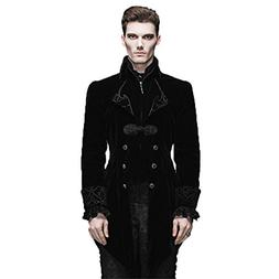 Steelmaster Steampunk Men's Swallow Tail Coat Gothic Winter