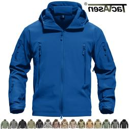TACVASEN Waterproof Tactical Soft Shell Men Jacket Coat Army