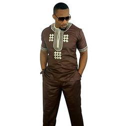African Dashikis Clothes, Embroidered Top and Pants set Bazi