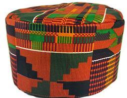 African Traditional Men Kids Kente Kofi Dashiki Cap Kufi Hat