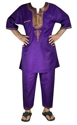 DecoraApparel African Traditional Men Suit Ethnic Clothing B