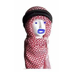Middle Eastern Red & White Kafiya Keffiyeh Kufiya with Aqal