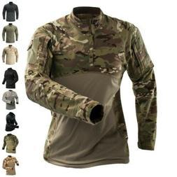 army tactical mens combat t shirt long