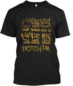Art History Cats T-Shirts 100% Cotton Size M-3XL US Men's Cl