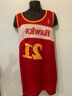 Atlanta Hawks 21 Dominique Wilkins NBA Hardwood Classic Jers