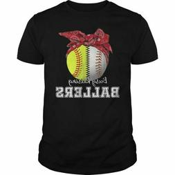 Baseball Mom Softball T-Shirts Cotton Size M-3XL US Men's Cl