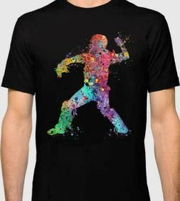 Baseball Softball Catcher 3 Art Sport T-Shirt M-3XL US Men's