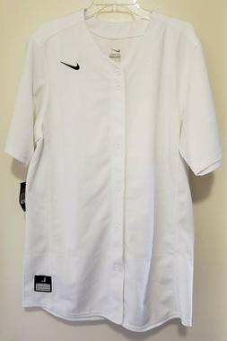 Nike Baseball Softball Jersey MENS Size Large White Full But