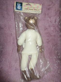 """Bear Craft Animal Doll Wang's Just For Keeps Classic 13"""" VTG"""