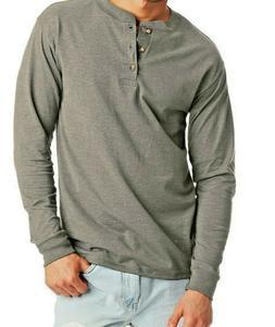 Hanes Beefy-T Men's Long-Sleeve T-shirt Light Gray 3XL