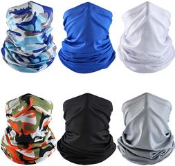 Best face mask UV Protection cover Neck washable 6 Pieces |2