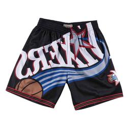 BLACK Big Face Philadelphia 76ers Mitchell & Ness NBA Men's