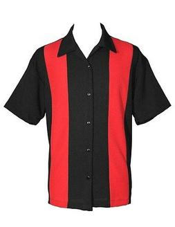 Steady clothing Black Double Red Panel Bowling Lounge men's
