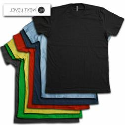 Next Level Apparel Blank T-Shirt - Super soft, Ring Spun Vin