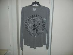 Retrofit Brand Clothing Mens Indian Eagle Thermal Grey T Shi