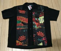 Steady Clothing brand Men's Vegas-printed Button Down Collar