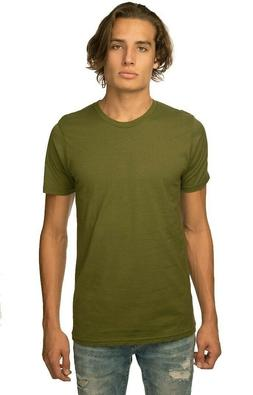 BRAND NEW Royal Apparel Men's Crew Hemp T-Shirt Olive Green,