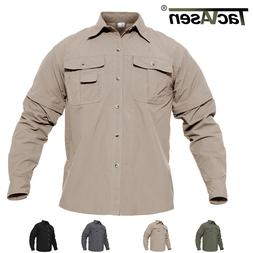 TACVASEN Breathable Men Quick Dry Shirt UV Protective Huntin