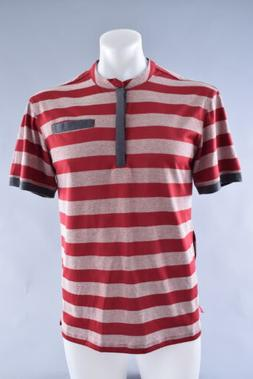 Club Ride Buxton Cycling Bike Jersey Men's Medium Red Stripe