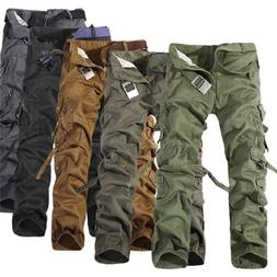 Camping Hiking Army Cargo Combat Military Men's Trouser Camo