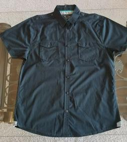 DRILL CLOTHING CO. Men's Button Down Casual Shirt - XL