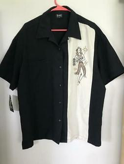 STEADY CLOTHING MEN'S HULA GIRL BOWLING SHIRT XL NEW TIKI RO