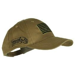 Voodoo Tactical Contractor Baseball Cap w/ Sewn on Flag, Coy