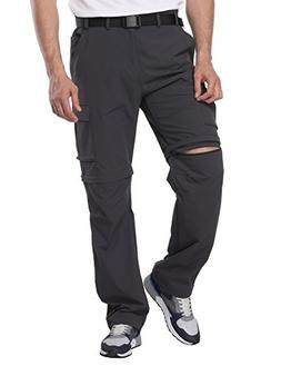 MIER Men's Convertible Pants Quick Dry Cargo Pants Lightweig