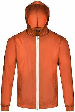 COOFANDY Men's Waterproof Rain Jacket Lightweight Hooded Out
