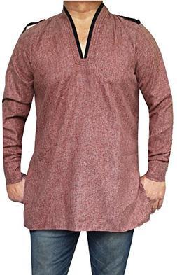 Maple Clothing Cotton Dress Mens Short Kurta Shirt India Fas