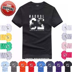Cotton Men Jordan 23 Print  tshirt Brand Clothing Men Sports