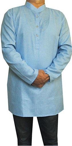 Maple Clothing Cotton Mens Short Kurta Shirt India Fashion C