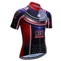 Cycling Clothing Men Cycling Jersey USA Short Sleeve Racing