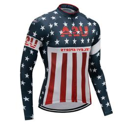 usa men s long sleeve cycling jersey