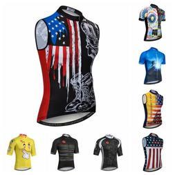 Cycling Jersey Men MTB Bike Short Sleeve USA Shirt Bicycle S